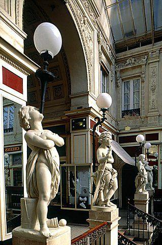 France, Pays De La Loire, Loire Atlantique , Nantes, Famous Covered Pommeraye Passage Entrance