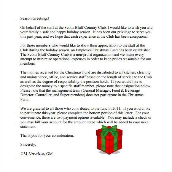 Employment Christmas Letter Samples Christmas Lettering Letter