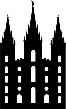 Salt Lake Temple Silhouette by sorenstoutner - This is a silhouette of the Salt Lake Temple of the Church of Jesus Christ of Latter-day Saints (Mormon) made by my friend Jay and I.  It is optimized for cutting on a Cricut.