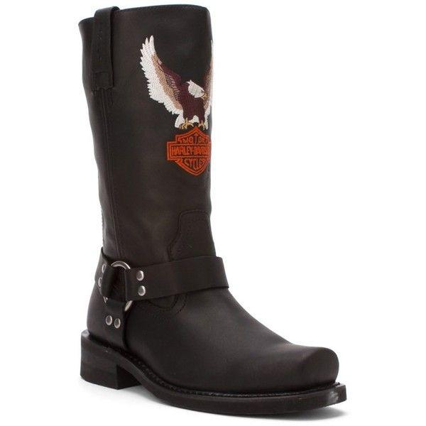 Harley Davidson Men's Darren Boots (395089602) ($200) ❤ liked on Polyvore featuring men's fashion, men's shoes, men's boots, black, shoes, mens biker boots, mens engineer boots, mens black boots, mens slip on shoes and mens shoes
