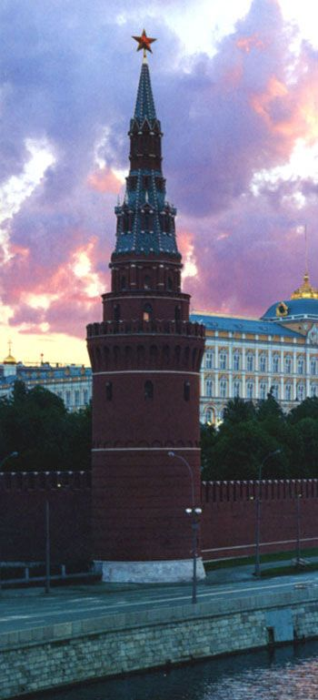 Tower of the Moscow Kremlin. RUSSIA