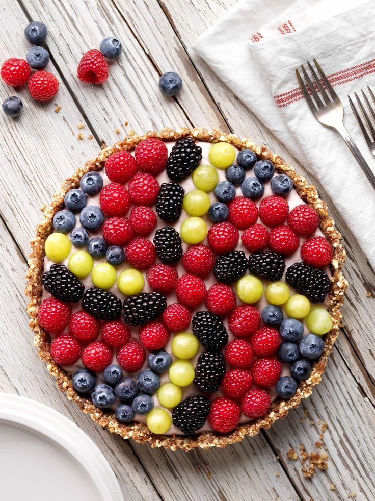 The Vegan Pinwheel Berry Tart