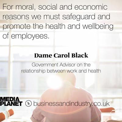 Dame Carol Black quote on employee health and wellbeing