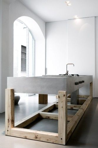 industrial kitchen look | from weiss milano