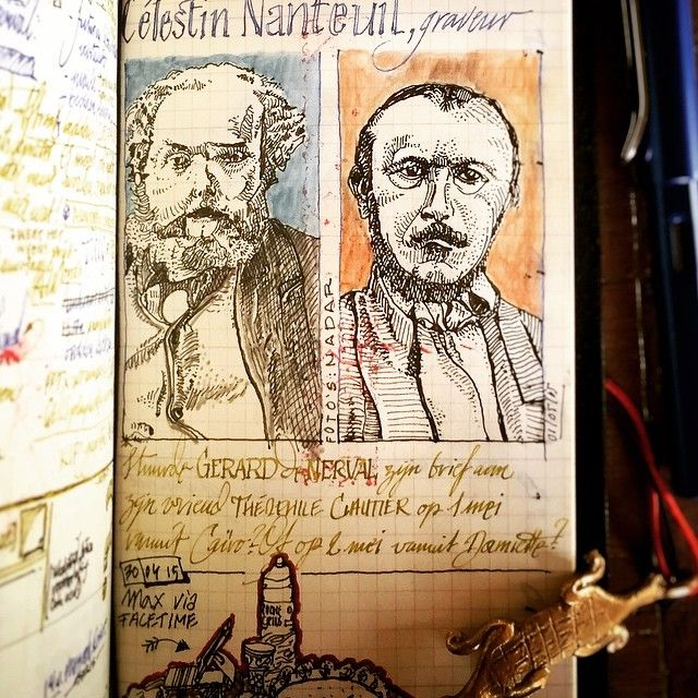 Researching Gerard de Nerval & Célestin Nanteuil. Writers of love letters & both portrayed by Nadar.