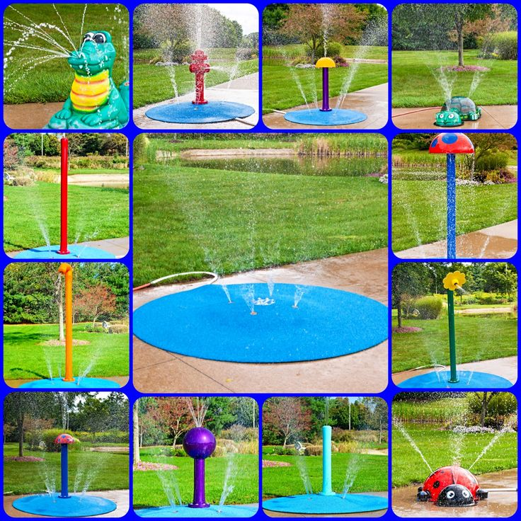 Check Out Our Portable Splash Pads! 10 Yr Warranty! Attach Garden Hose For  An
