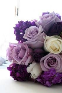 Shades of purple #purple #wedding #flowers