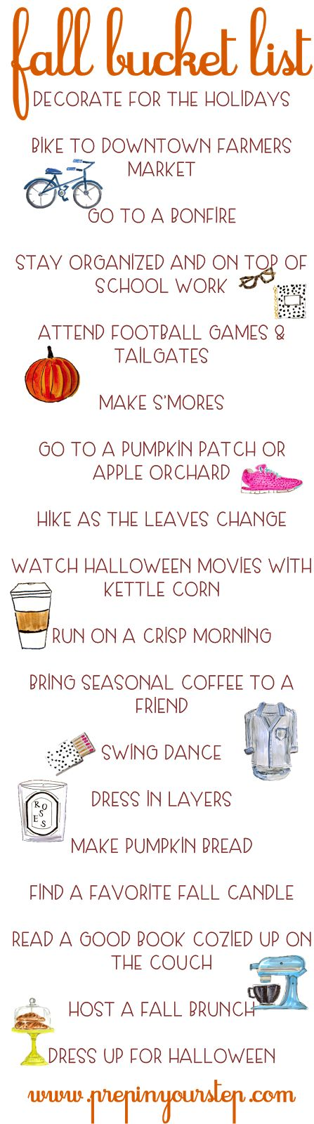 Prep In Your Step: Fall Bucket List