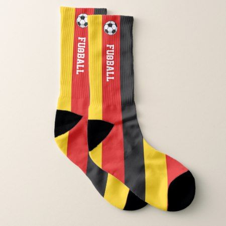 Germany Flag Fußball and Your Text Socks - tap to personalize and get yours