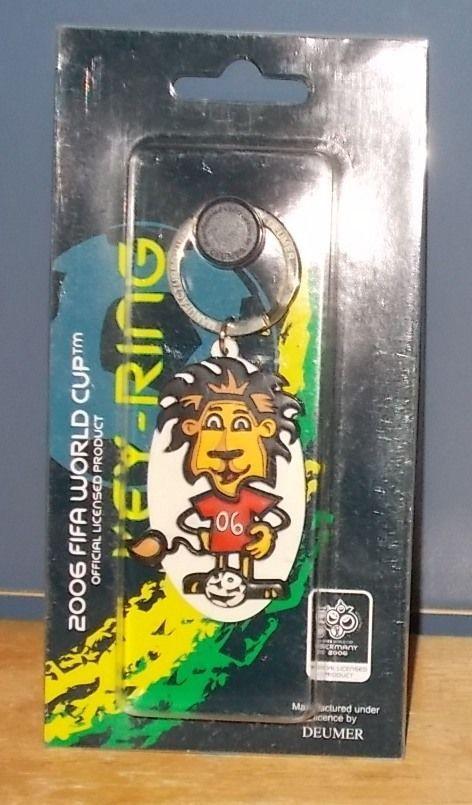 FIFA 2006 World Cup Germany Goleo VI Keyring Keychain Fob Red 06 Shirt  | eBay