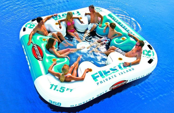 Large 8 Person Pool Lake Water Inflatable Seats Bar