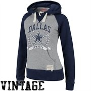 jordan air jordan xx9 Mitchell  amp  Ness Dallas Cowboys Ladies Ash Navy Blue Postseason Pullover Hoodie Sweatshirt