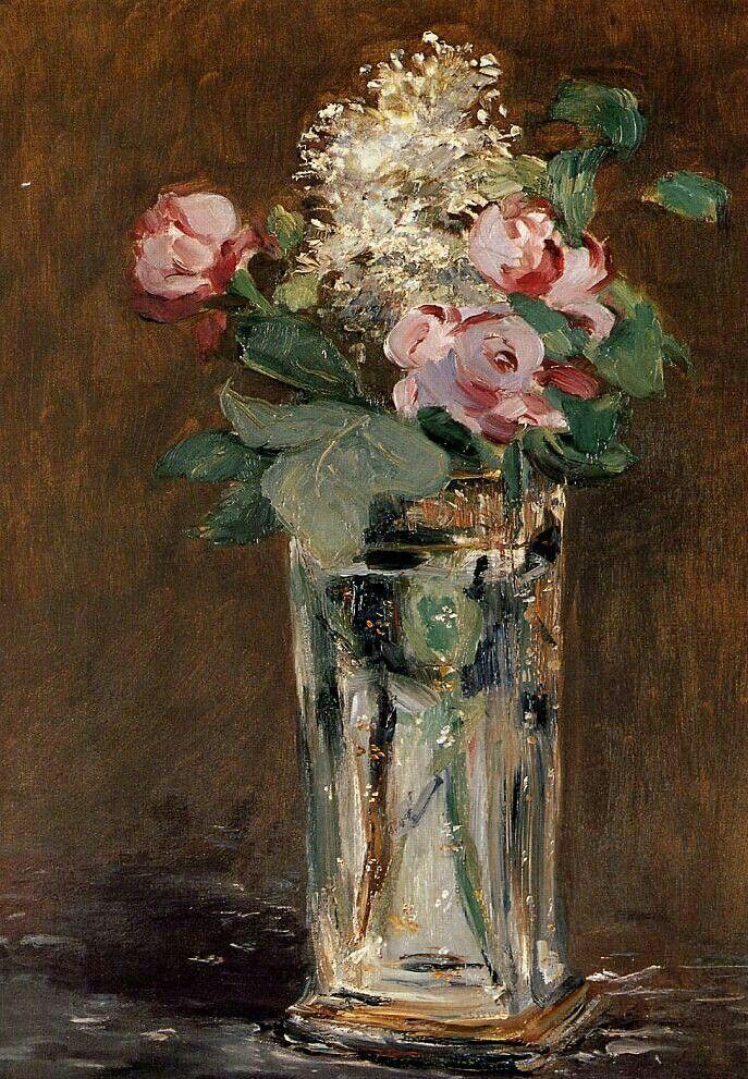 1882. Fiori in un vaso di Cristallo. 1882. Orsay.