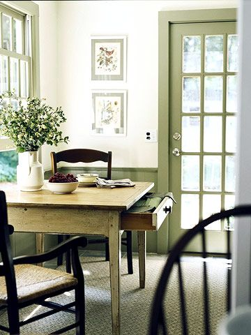 I want a white room with milky green trim. This is happening, just need to find the right room....