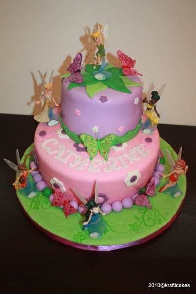 Disney Fairies Cake By krafticakes on CakeCentral.com