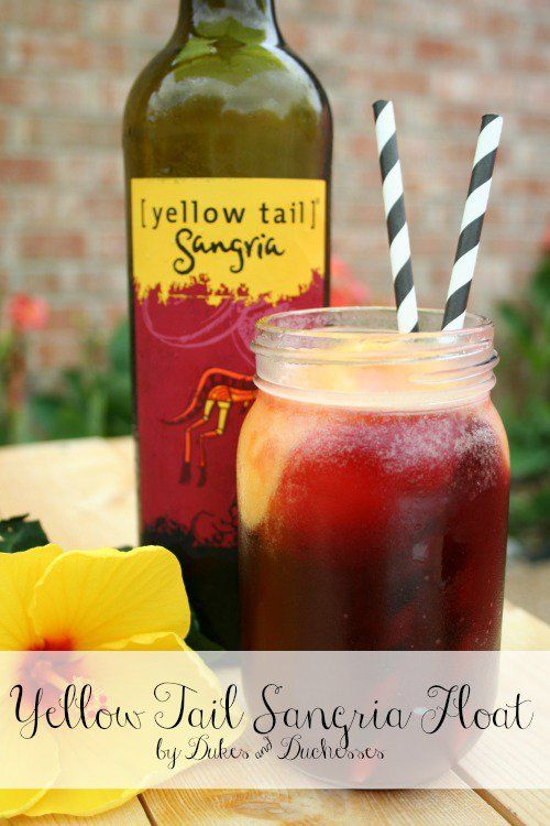 Yellow Tail Sangria Float - Dukes and Duchesses