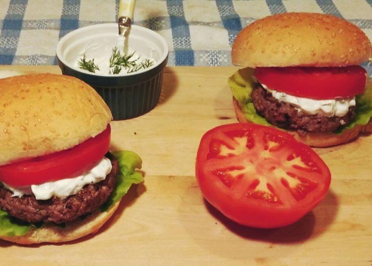 Delicious light burger!