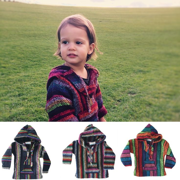 Colourful Mexican Baja Sweater / Jumper for Kids