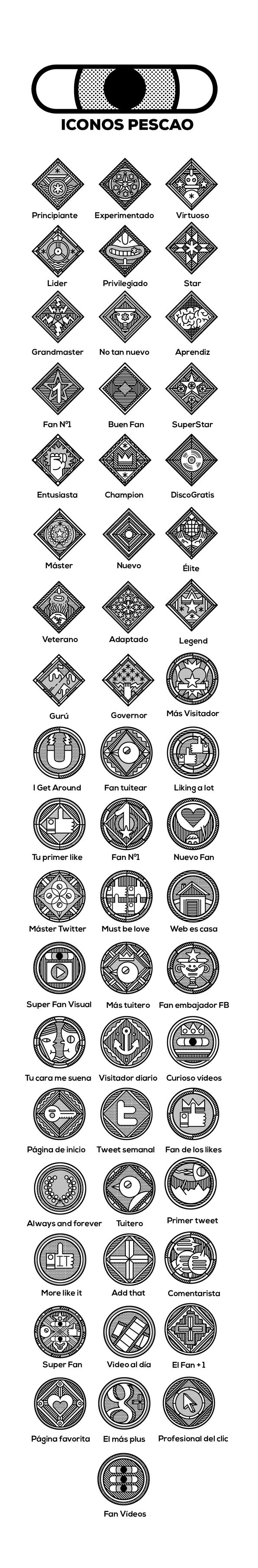 "Icons and Medals ""Pescao web"" on Behance"