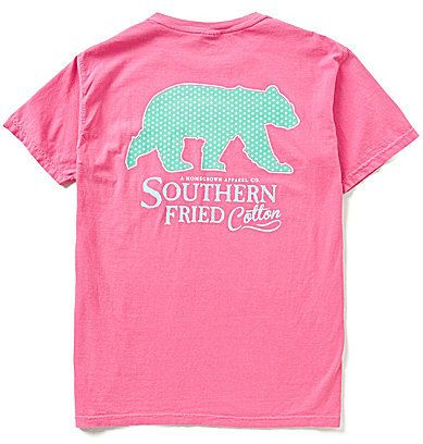 Southern Fried Cotton Men's Bear Xing Short-Sleeve Pocket Graphic Tee
