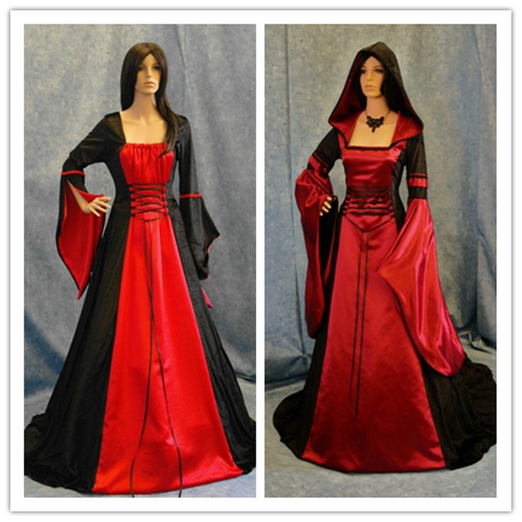 Halloween Wedding Gowns: Black And Red Halloween Wedding Dress