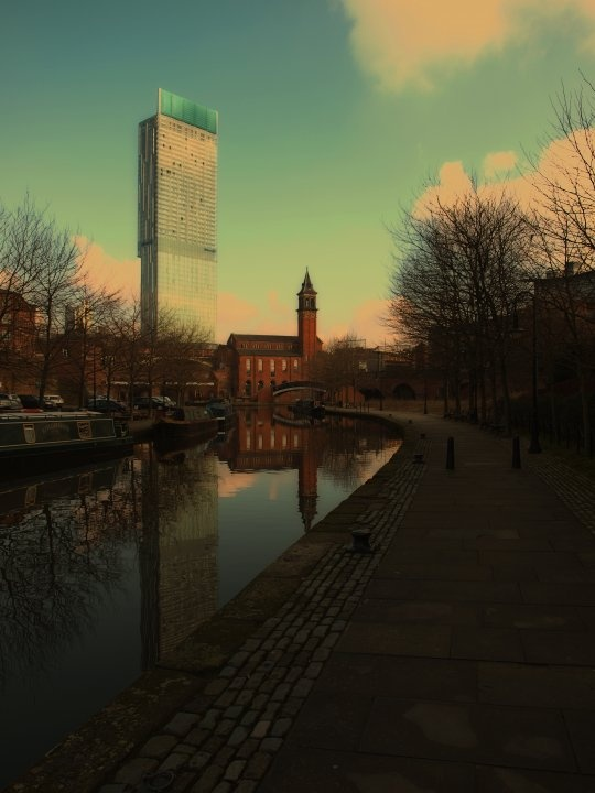 A stunning photo of Castlefield from @manchesterdailyphoto.