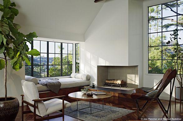 Marmol Radziner - windows and indoor plants
