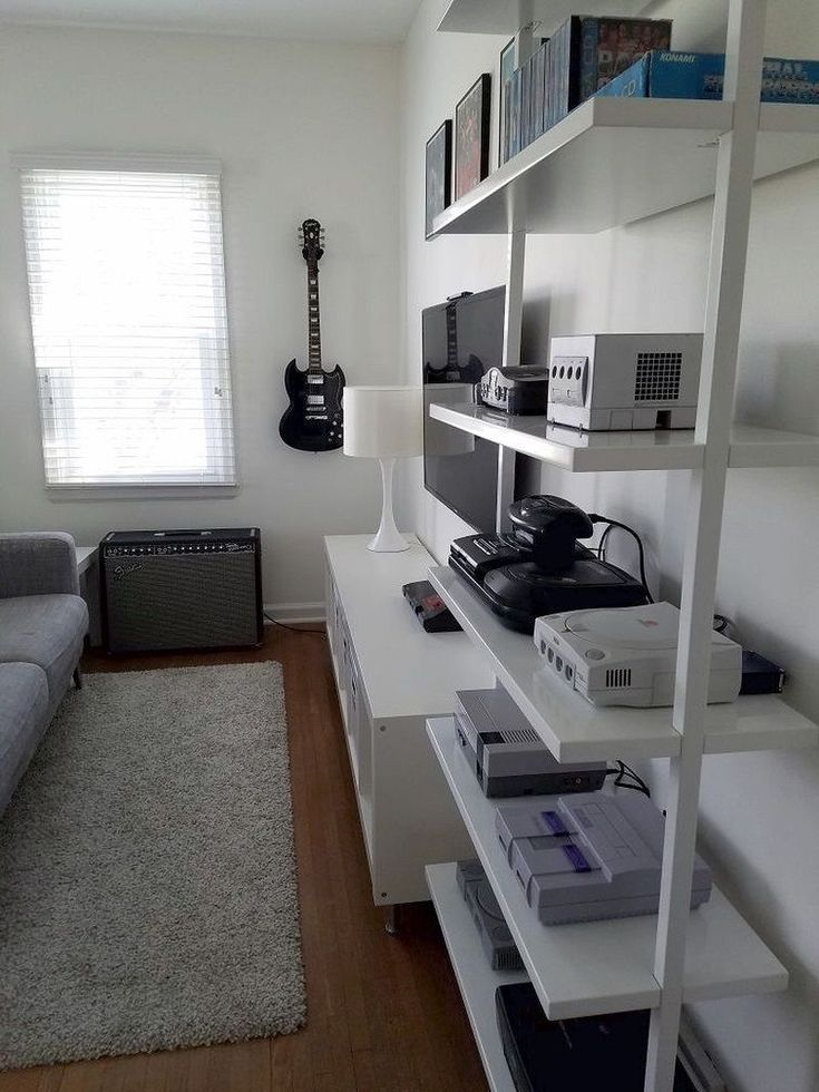 Gorgeous 40 Video Game Room Ideas to Maximize Your Gaming Experience decoratioon.com/…