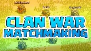 coc matchmaking for war