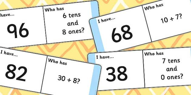 Place Value Loop Cards 2 Digits - place value, loop, cards, 2