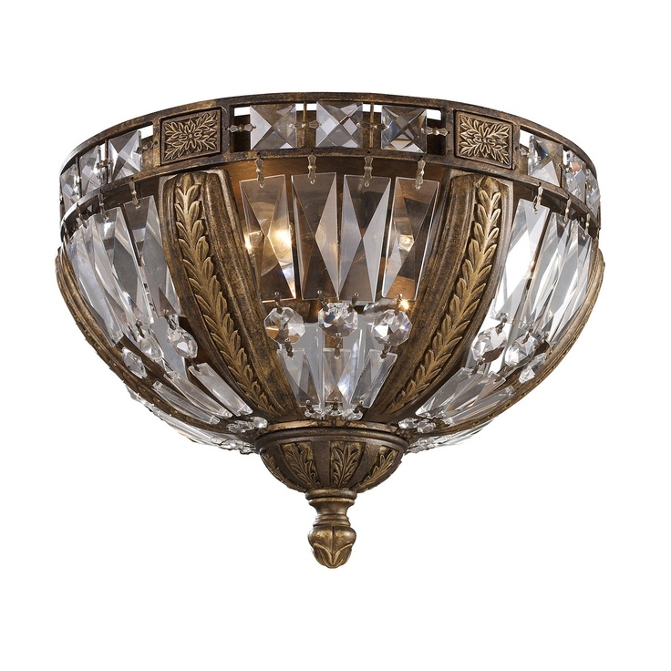 Trump Home By ELK 2493/4 Grand Salon 4 Light Millwood Flush Mount Ceiling  Light