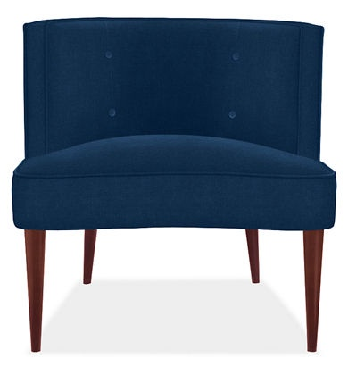 .: Velvet Chairs, Blue Velvet, Living Rooms Chairs, Front Rooms, Clean Line, Rooms Colors, Accent Chairs, Bold Colors, Chloe Chairs
