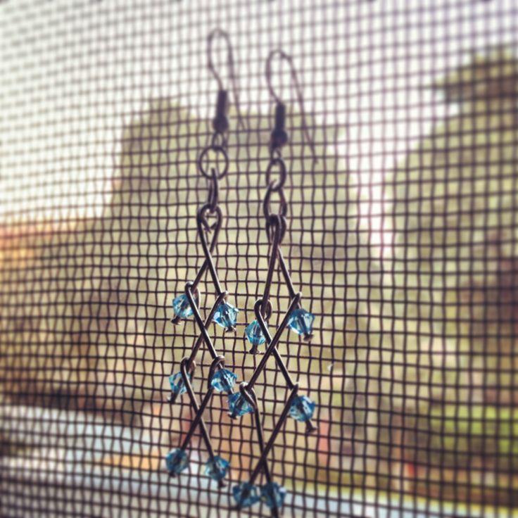 The best one yet. Made from beads and oil pins. #littlewildthings #handmadejewelry #soumyaprakash #handmadeearrings #earrings