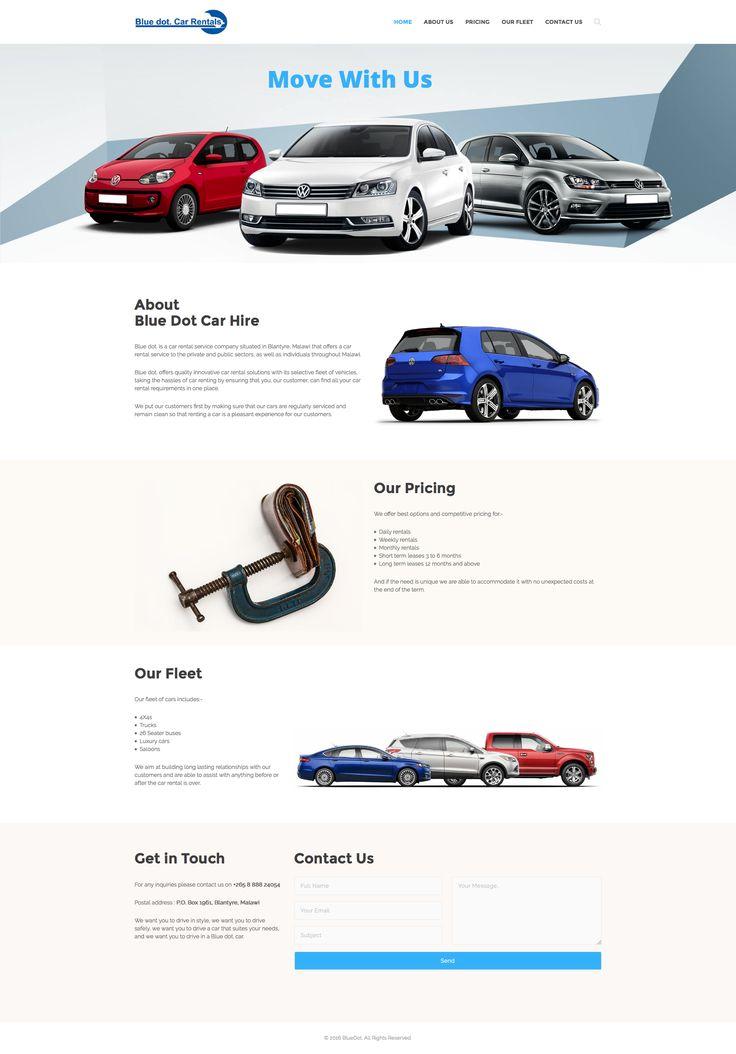 Blue Dot Car Rental Website