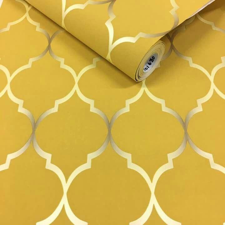 The 25+ best Mustard wallpaper ideas on Pinterest | Geometric wallpaper mustard, Teal wallpaper ...