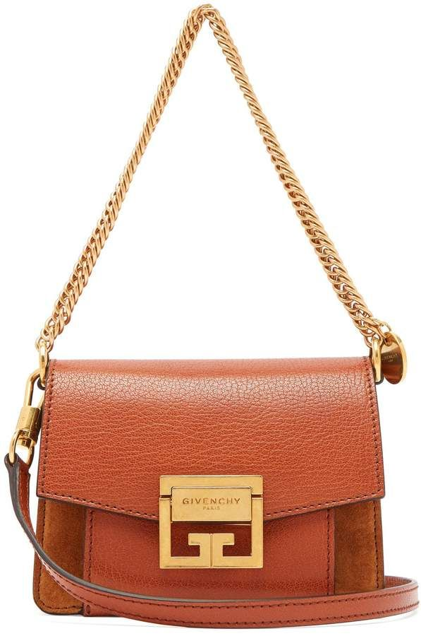bd14042abaee Givenchy GV3 small suede and leather cross-body bag | Products ...