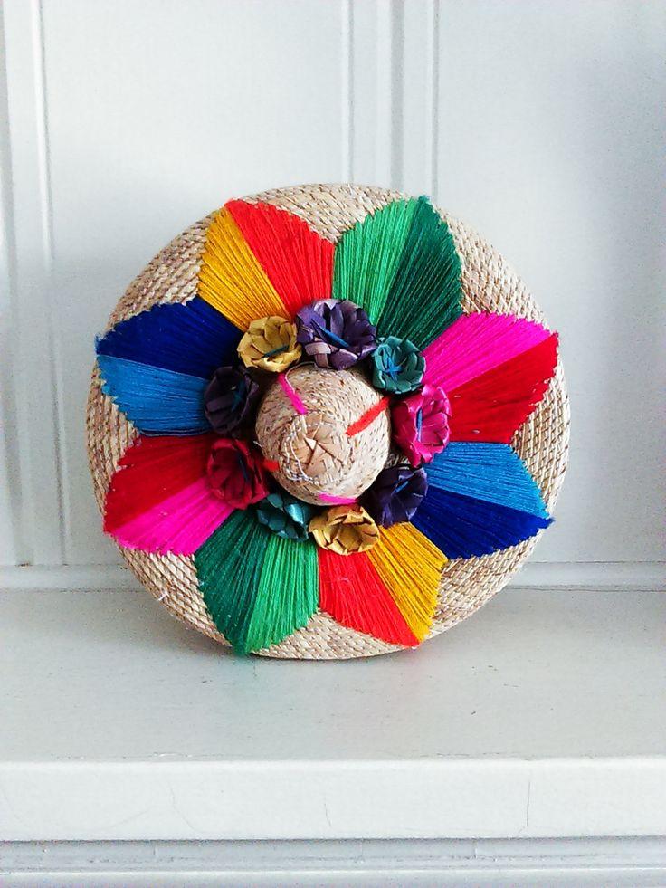 Vintage Mexican Tortillero Basket / Embroidered Tortilla Basket / Southwestern Storage Basket / Jewelry ~ Make Up Basket / Home Decor by JulesCristenVintage on Etsy