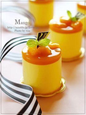 「ふわシュワ♡マンゴーのレアチーズムース」るぅ | お菓子・パンのレシピや作り方【corecle*コレクル】