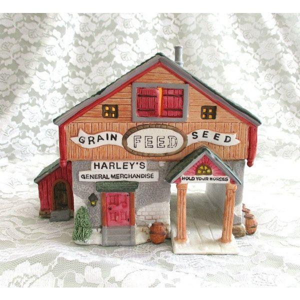 Vintage Village Christmas House Miniature House Christmas Village 40 Liked On Polyvore Featu Country House Decor Christmas Village Houses Holiday Decor