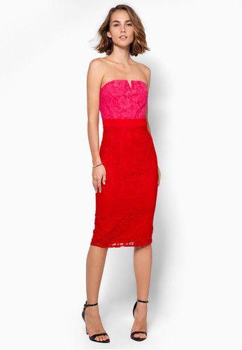 Lace Bandeau Dress