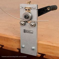Stewart-MacDonald Fret Bender. For guitar makers, but this would be PERFECT for metalworkers/jewelry makers working with wire.