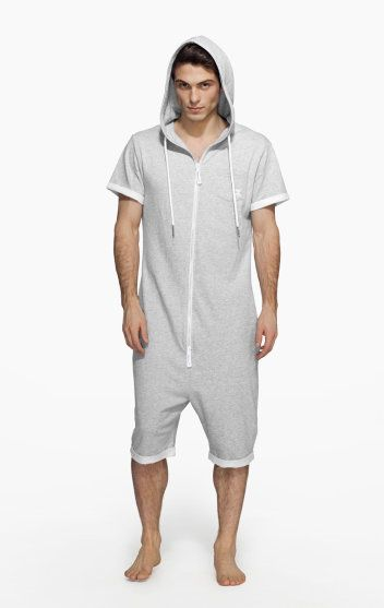 The OnePiece Boombox Adult Onesie in Grey is a short sleeve and leg jumpsuit made from lightweight 100% cotton. This lightweight short adult onesie with a fitted hood and zip front is all about the chill out.