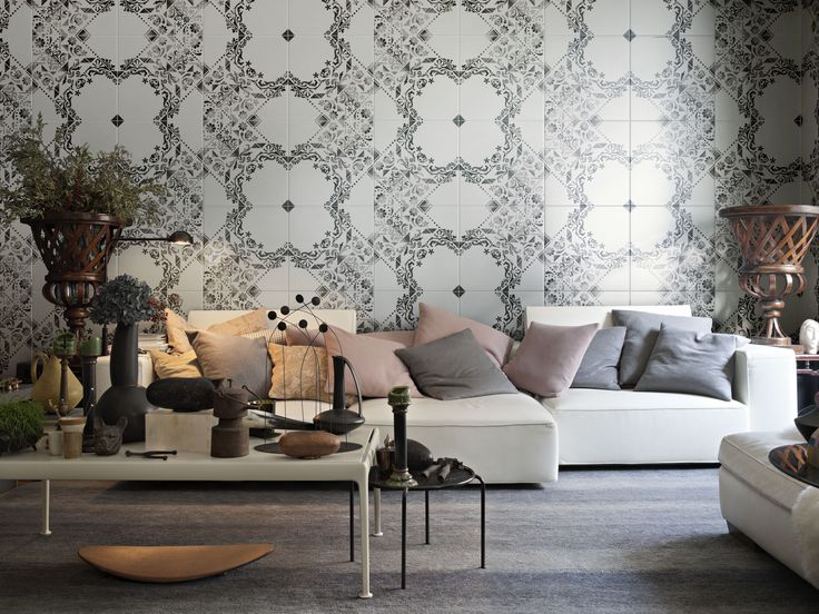 EVE is Ceramica Bardelli's 3rd collaboration with Dutch designer Marcel Wanders. The hand painted tiles are designed to furnish elegant, modern spaces with a rustic background. #Cersaie2016