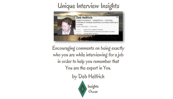 "Introduction to Deb Helfrich's ""Unique Interview Insights""."