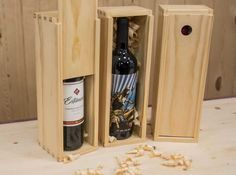 how to make wooden wine boxes