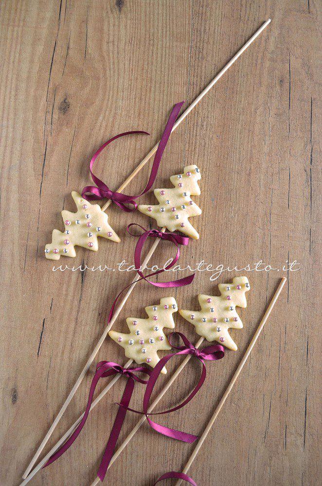 Biscotti lecca lecca natalizi (Christmas Cookies pops) - Ricetta.