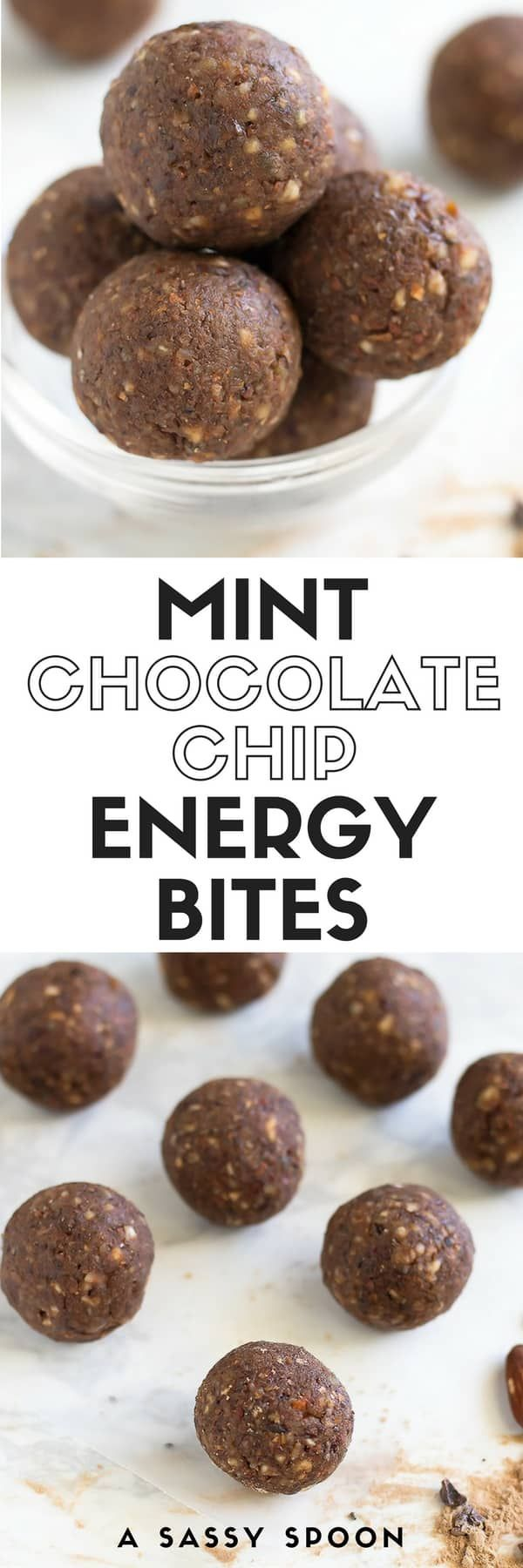 When you want something sweet AND healthy-ish, these no-bake, on-the-go mint chocolate chip energy bites are the perfect snack! via @asassyspoon