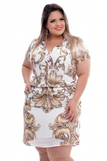 714357751 Vestido Plus Size Hillary