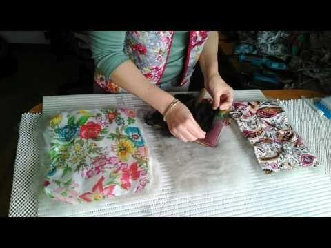 Как готовить ткань к приваливанию на бергшаф - YouTube