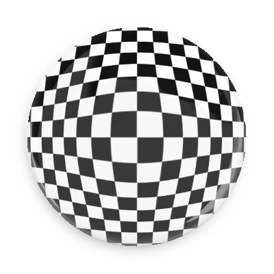 Checkerboard Bulge - Funny Buttons - Custom Buttons - Promotional Badges - Trippy Illusions - Wacky Buttons